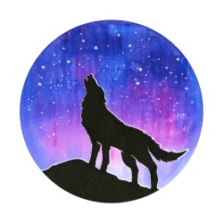 Howling Wolf Silhouette Galaxy Carry all Pouch for Sale by Olga Shvartsur