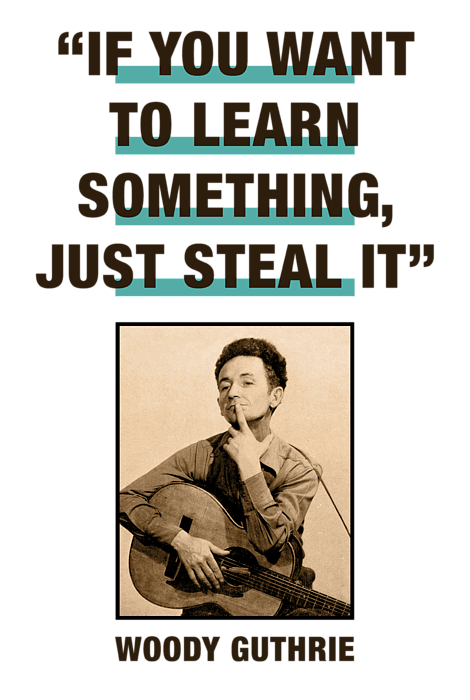 Woody Guthrie Quotes : woody, guthrie, quotes, Woody, Guthrie, Quotes, Learn, Something, Steal, Round, Beach, Towel, David, Richardson
