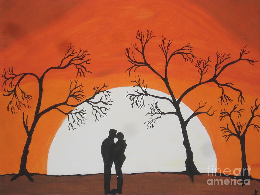 Image result for first kiss painting
