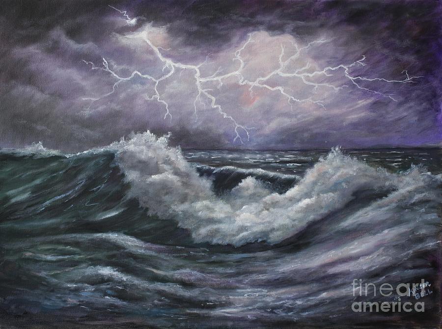 Lightning Reflection Painting By Marlene Kinser Bell