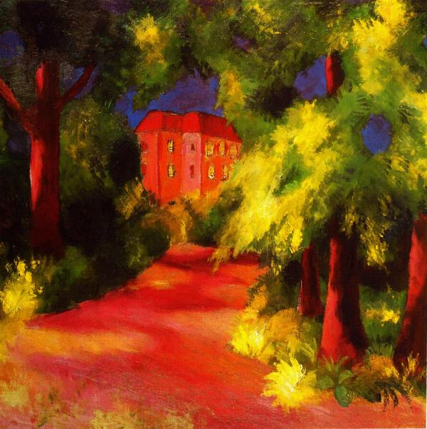August Macke House Red