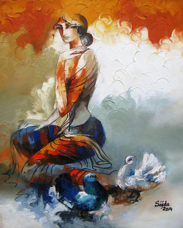 Figurative Art : figurative, Abstract, Figurative, Painting, Sajida, Hussain