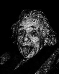 Albert Einstein Text Portrait - Typographic Face Poster ...