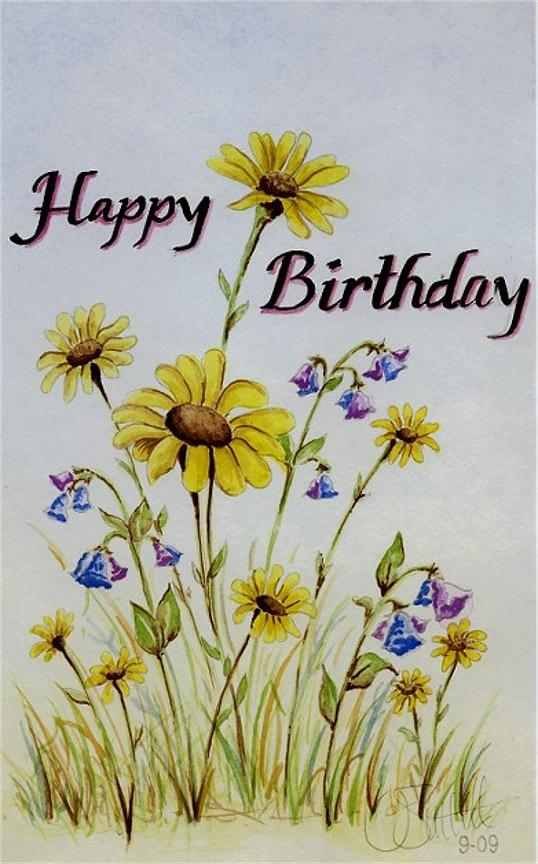 Paint birthday card   Etsy