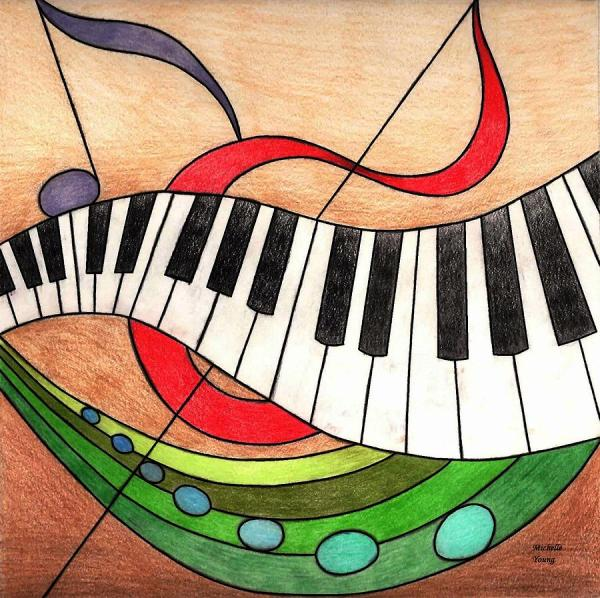 Colorful Music Drawing Michelle Young