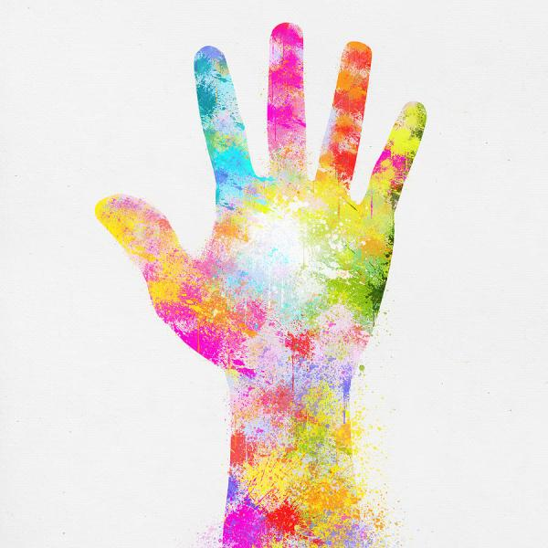 Colorful Painting Of Hand Painting by Setsiri Silapasuwanchai
