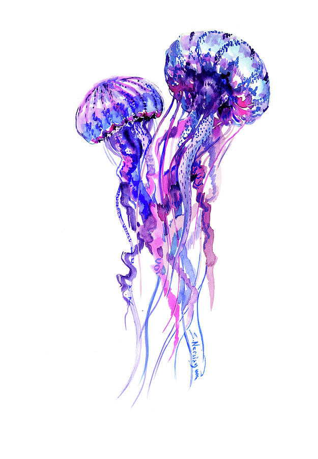 Jellyfish Painting By Suren Nersisyan