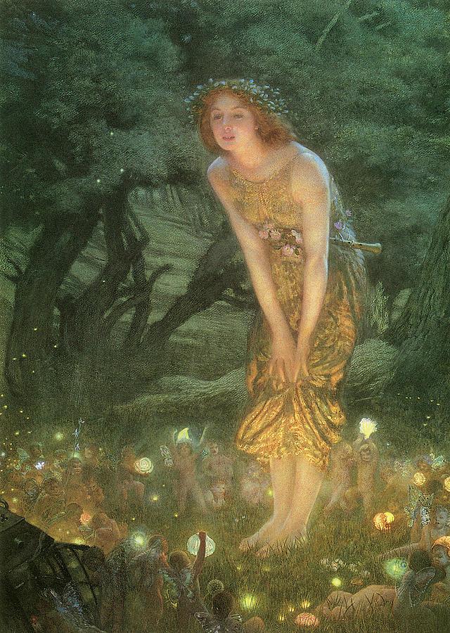 Midsummer Eve Painting by Edward Robert Hughes