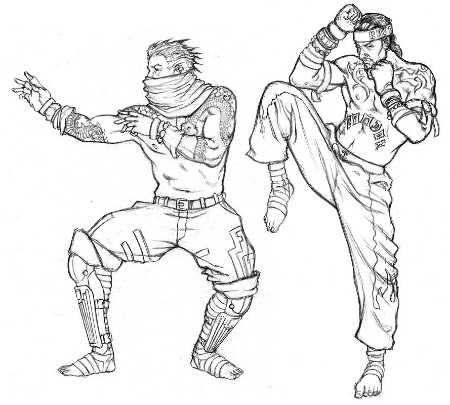 Thug Sketches Drawing by Chris Martinetti