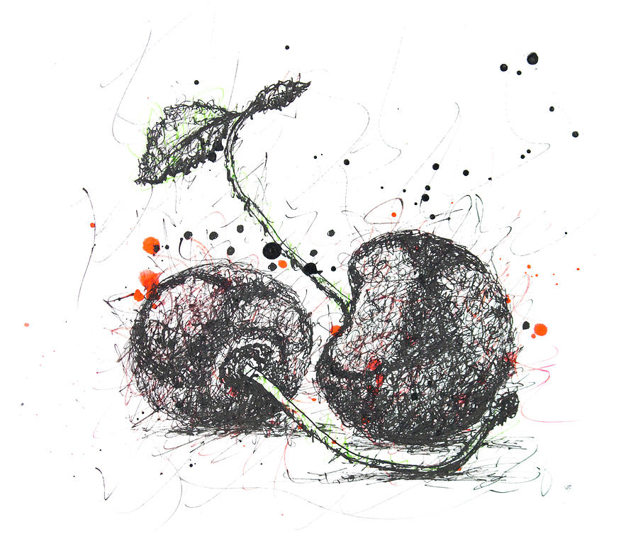 Two Cherries Drawing
