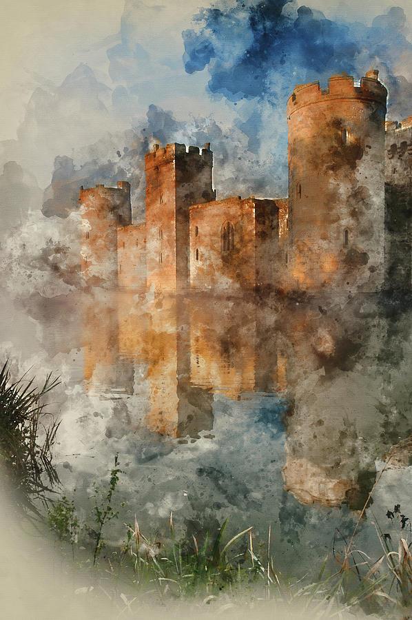 Medieval Castle Painting : medieval, castle, painting, Watercolour, Painting, Medieval, Castle, Sunrise, Photograph, Matthew, Gibson