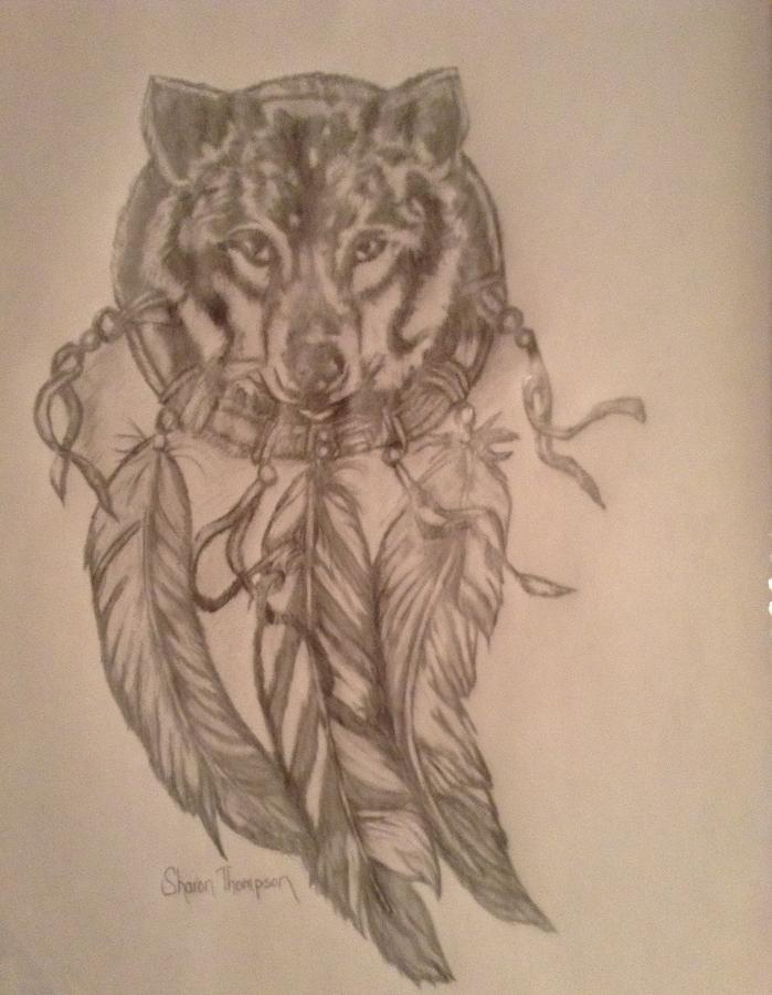 Wolf Dreamcatcher Drawing : dreamcatcher, drawing, Dreamcatcher, Drawing, Sharon, Thompson