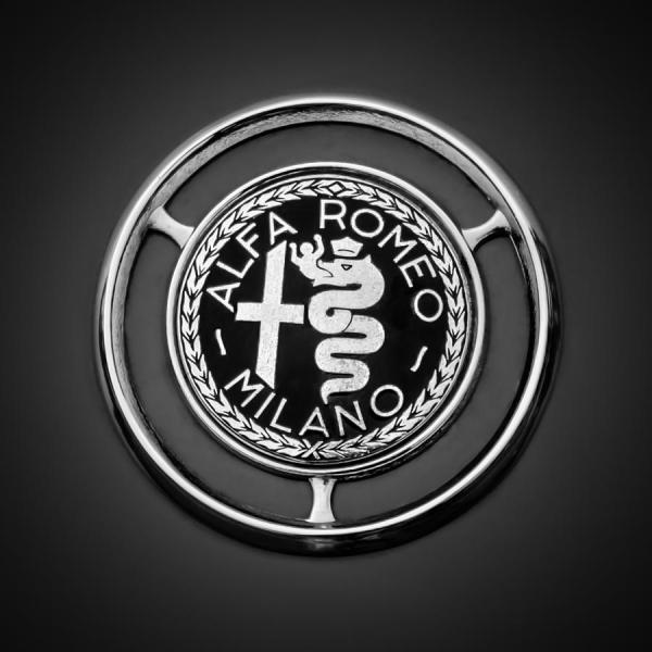1959 Alfa Romeo Giulietta Sprint Emblem -0128bw3