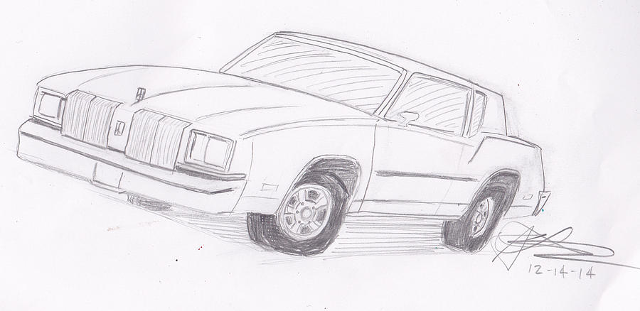 1979 Oldsmobile Cutlass Supreme Drawing by Stanley Lobby