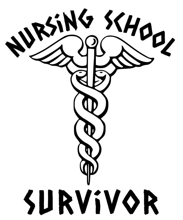 Nursing School Survivor Caduceus Student Nurse Medical