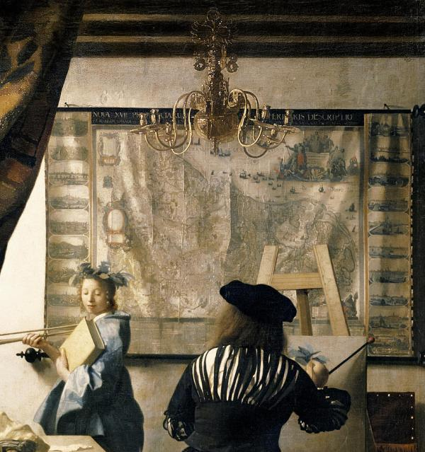 Artist' Studio Painting Jan Vermeer