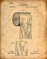 Toilet Paper Roll Patent Print Digital Art by Visual Design