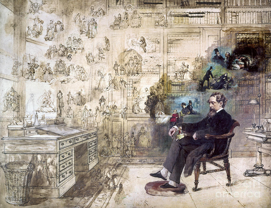 Charles Dickens 1812 1870 Drawing By Granger