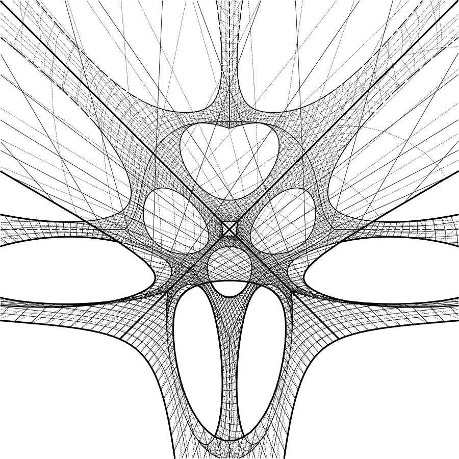 3d Geometric Organic Wireframe Shape Drawing by Nenad Cerovic