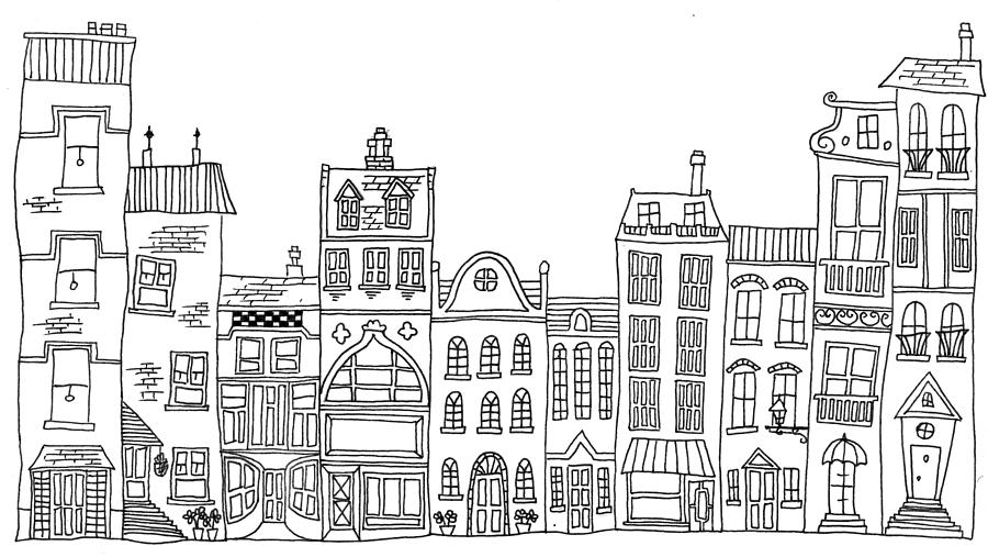 Apartment Building Coloring Pages Sketch Coloring Page