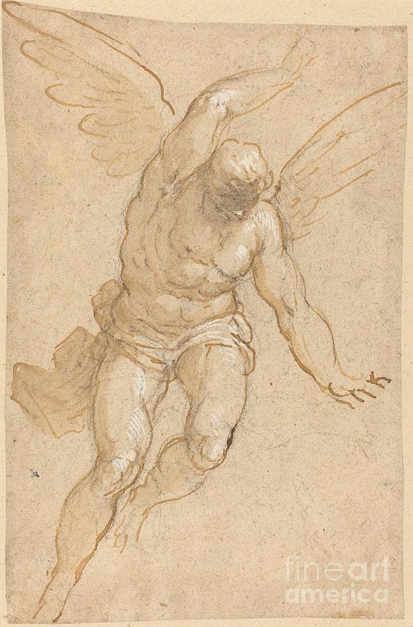 Flying Angel Drawing : flying, angel, drawing, Flying, Angel, Drawing, Jacopo, Palma, Giovane