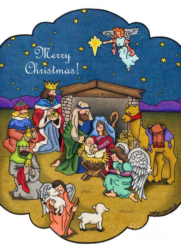 nativity scene- merry christmas