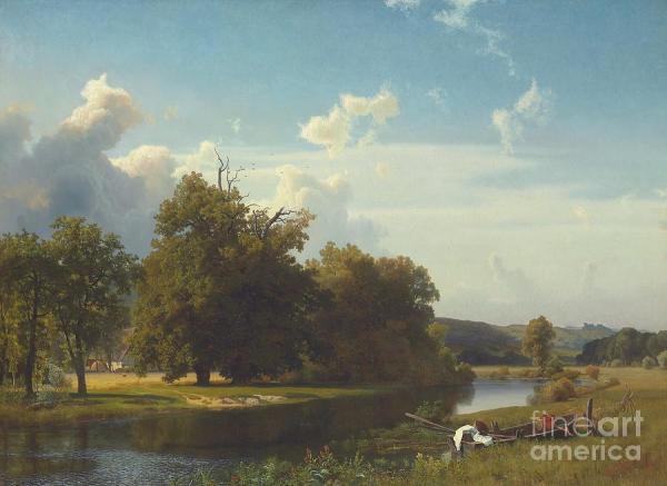 river landscape westphalia painting