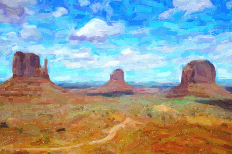 abstract arizona desert landscape