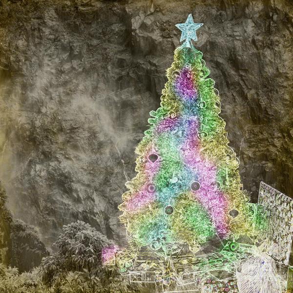Christmas Tree Abstract Art