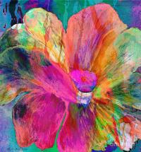 Abstract Floral Painting 007 Painting by Mas Art Studio