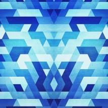 Abstract Geometric Triangle Pattern Futuristic Future