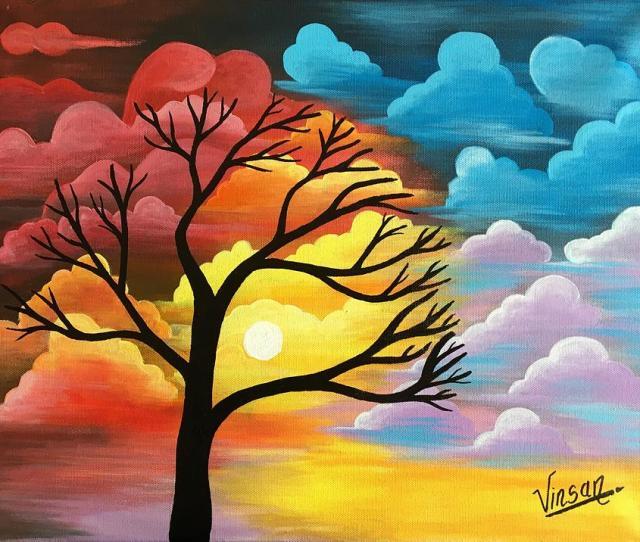 Abstract Painting Abstract Nature Acrylic Painting By T Saranraj