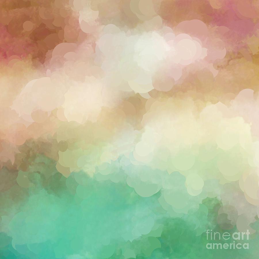 abstract pastel blush green
