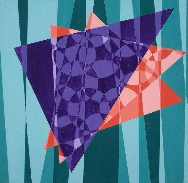 Abstract Shapes Painting Mallory Younger