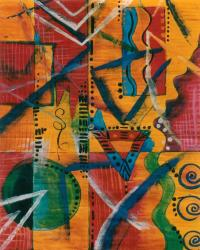 African Abstract Series Painting by Aldonia Bailey