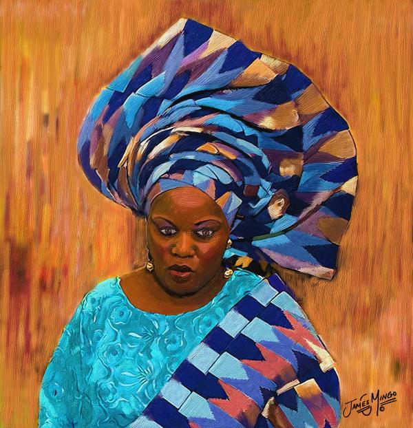 African Woman 5 Painting James Mingo