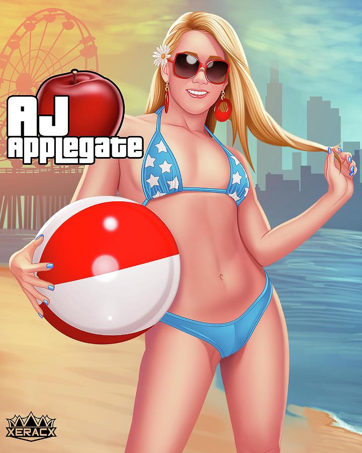 Aj Applegate Gta Digital Art By Ismael Rac