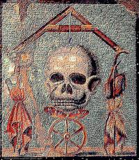 Ancient Roman Mosaic Painting by Larry Lamb