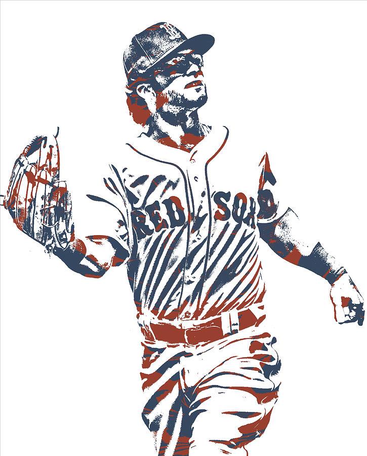 andrew benintendi boston red sox pixel art 10 mixed media