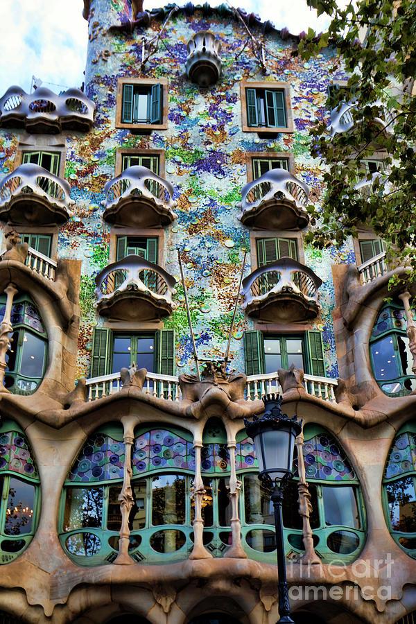 Antoni Gaudis Casa Batllo Barcelona Spain Photograph by