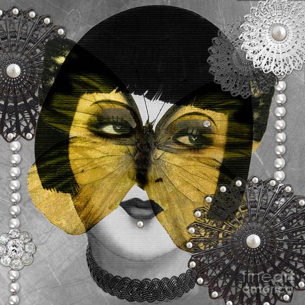 Butterfly Woman Art Deco