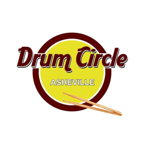 Asheville Drum Circle Logo Digital Art John Haldane