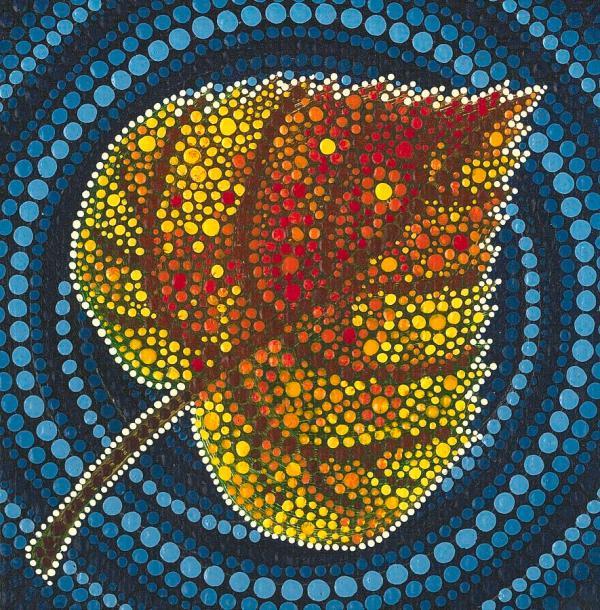 Aspen Leaf Dot Painting Manny Carwile