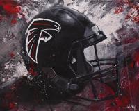Atlanta Falcons Football Wall Art Falcons Fan Gift ...