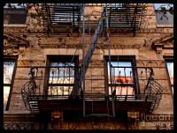 Autumn Balcony - New York City Fire Escape Photograph by ...