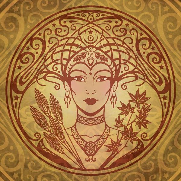 Art Nouveau Autumn Painting