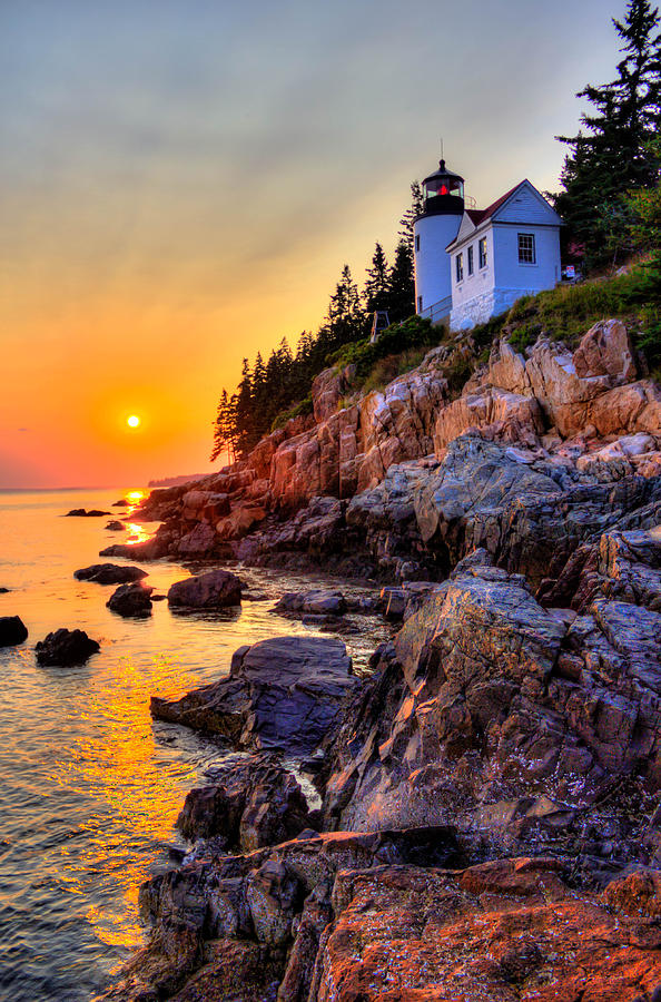 Bass Harbor Head Lighthouse Photograph by Peggy Berger