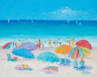 Beach Art - Summer Painting by Jan Matson