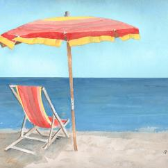 Toddler Beach Chair With Umbrella Custom Size Mats For Carpet Of Stripes Painting By Arline Wagner