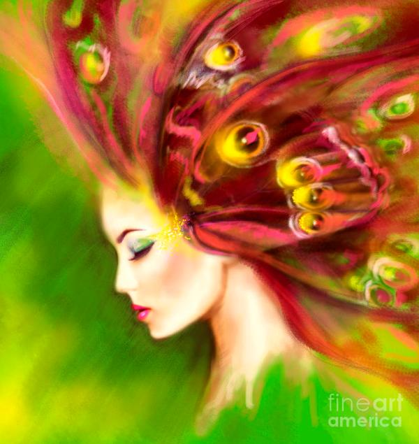 Butterfly Digital Art Women